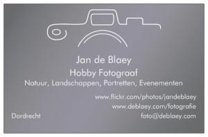 Mijn visitekaartje als hobby fotograaf.